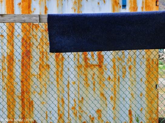 The blue Doormat