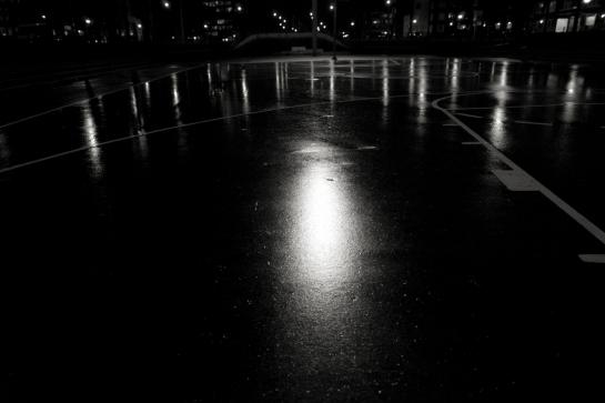 Spotlights in the Rain