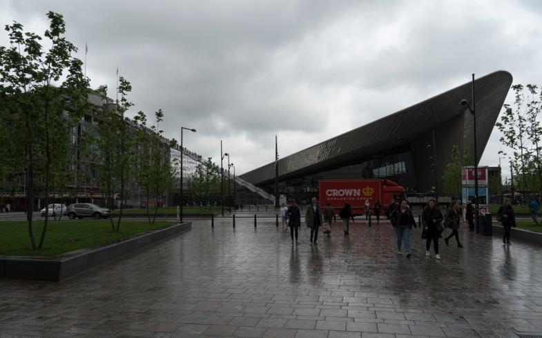 Rotterdam CS in the Rain