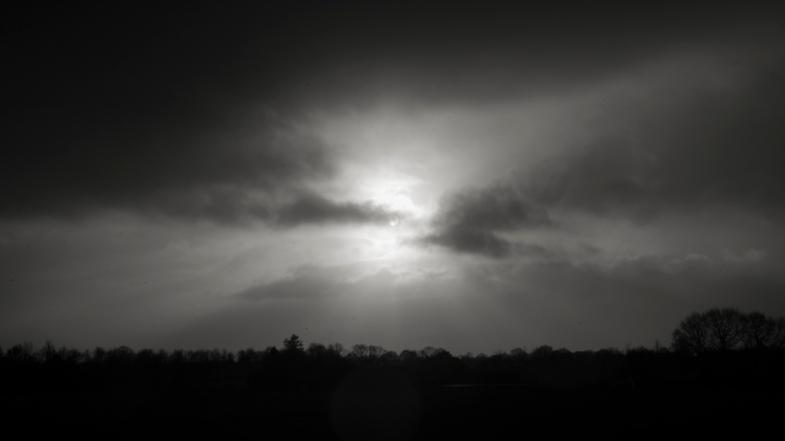 Sunlight over the flat Lands