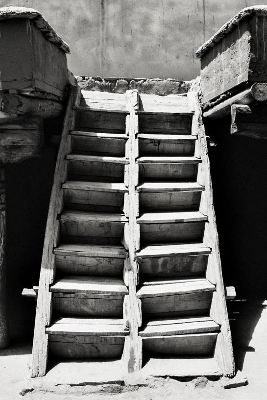 Hemis Monastery Stairs B&W